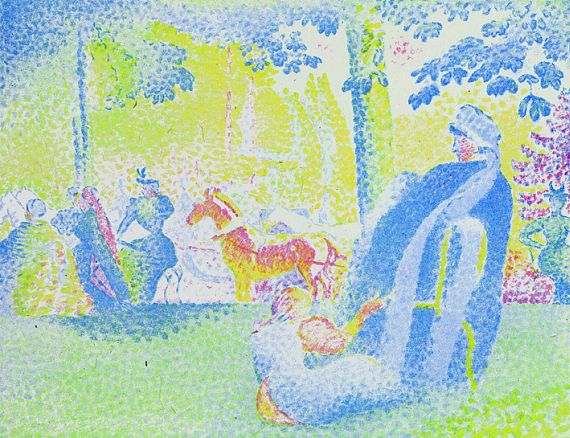 Henri-Edmond Cross - In den Champs-Elysées