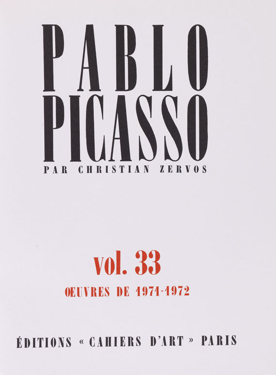 Christian Zervos - Pablo Picasso. Oeuvres Vol. 3 - 33
